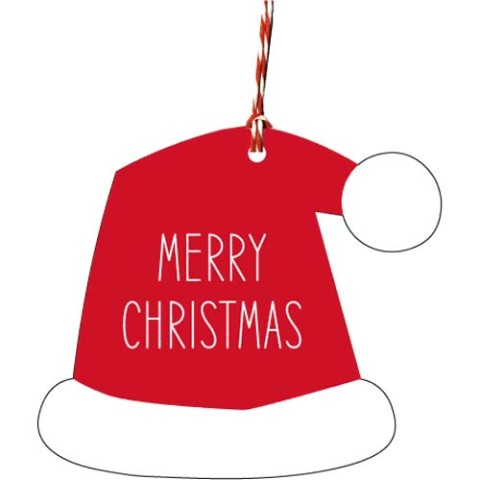 【クリスマス雑貨】Christmas Ornament Tag - Cap