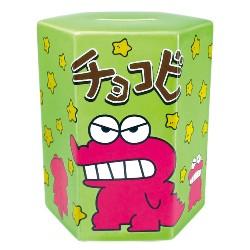 【蠟筆小新】Chocobi陶器銀行綠色