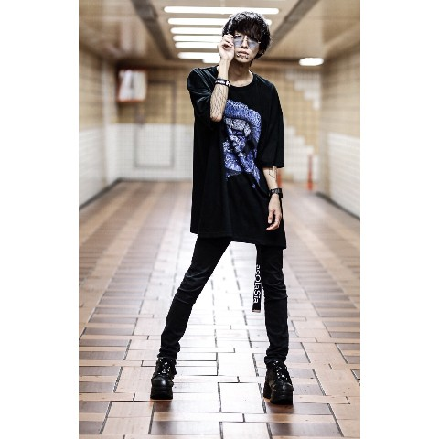"【acOlaSia】""limited color"" yum yum yum… tee(ブラック/XXXLサイズ)"