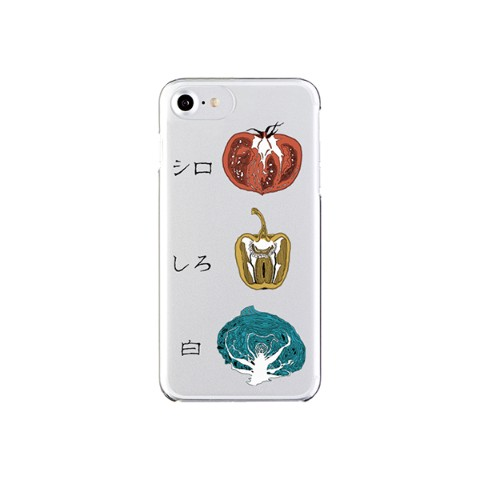 【sakiyama】Smartphone case with white vegetables (iPhone8/7/6/6s)