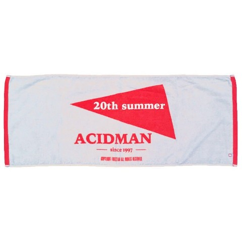 "Face Towel 別注カラー(Gray×Red)【ACIDMAN""20th summer""】【下北沢店直送】"