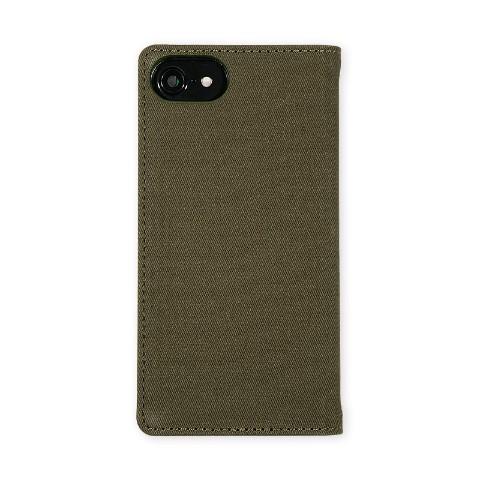 e6d688cc62 友達同士やカップルでお揃いに♪【iPhone6/7/8兼用タイプ】キャンバス素材、手帳タイプのiPhoneケース 。見開き面はポケット付きでカードなどを収納できます。