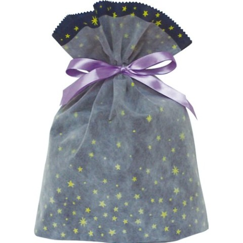 Gift Bag (L) Star Navy