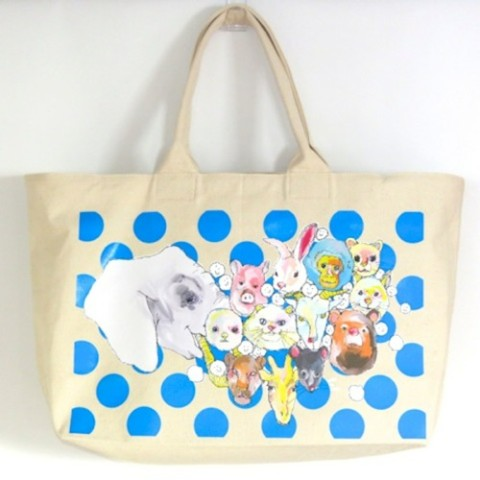 【kanvas】ZOO WEEKEND TOTE NATURAL