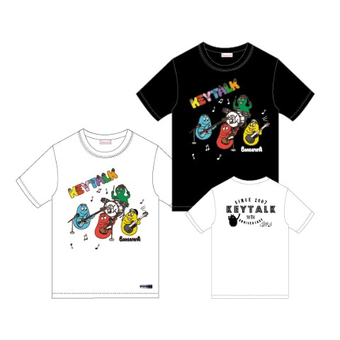 KEYTALK×BARBAPAPA Tシャツ BK/Lサイズ