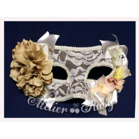 【Atelier Ruby】Mask Headdress-Elegance Lace Flower/BG