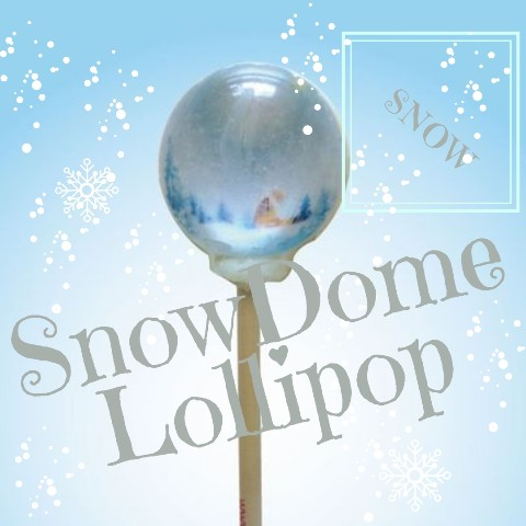 SnowDome Lollipop snow / Green Apple
