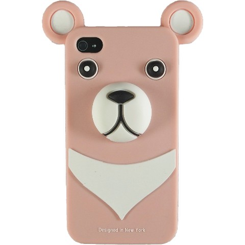 おとぼけクマさんのiPhone4 Case iburg 3D Bear Light Pink