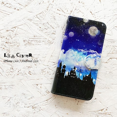 【LALA CloveR.】Fantasy Night 手帳型 iPhone6/6sケース/iPhone7ケース/iPhone8ケース/iPhoneSE2ケース
