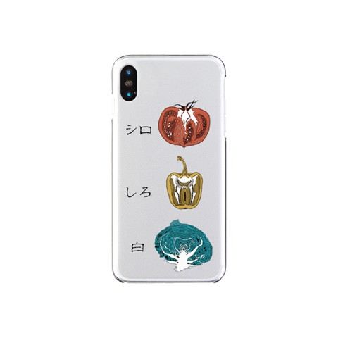 【sakiyama】Smartphone case with white vegetables (iPhoneXS/X)