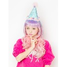 "【AMOプロデュース】【Lunatic Lemony Lollipop】 ""Birthday"" corn hat (ライトブルー)"