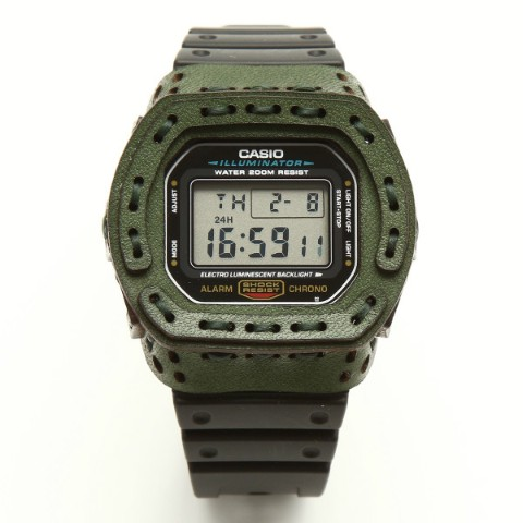 【armadillo】レザーカスタムケース for G-SHOCK【arm-002-GREEN】