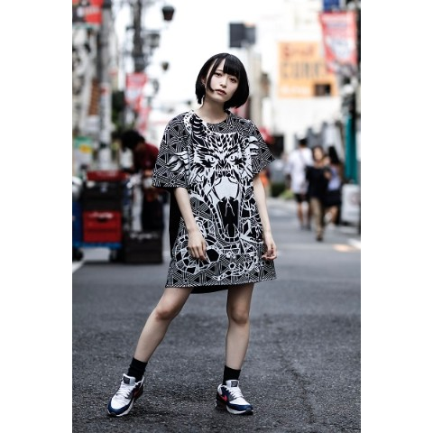 【FABLED NUMBER×acOlaSia】コラボビッグシルエットT(BLACK)