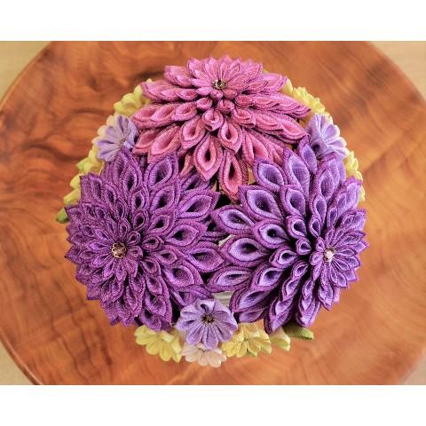 2c4926b356093 フタエダリアの手毬簪(紫)   雑貨通販 ヴィレッジヴァンガード公式通販サイト