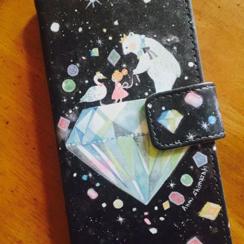 ddfda37496 【しまざきあんみ】手帳型iPhoneケース6/6s【ダイヤ】 眺めていると癒されちゃいます! 4428 yen あと 1 個