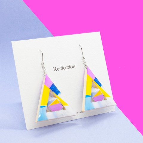 【Re:flection】triangle cubeピアス (circus)