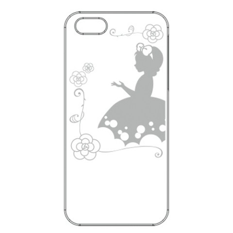 【iPhone5/5s】【アップルマークを有効活用】iPhone+ 2012MODEL /Snow White
