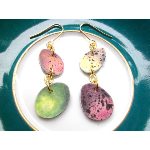 【Einelilie】Colorful Eggs ピアス