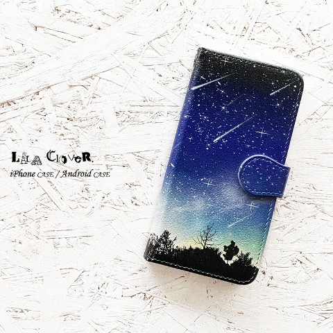 【LALA CloveR.】流星 手帳型 iPhone6/6sケース/iPhone7ケース/iPhone8/iPhoneSE2ケース