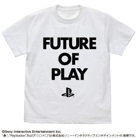 "【プレイステーション】FUTURE OF PLAY Tシャツ""PlayStation"" WHITE L"