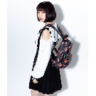 【TRAVAS TOKYO】PU Back Pack [Small] Cherry berry【Black/Red】