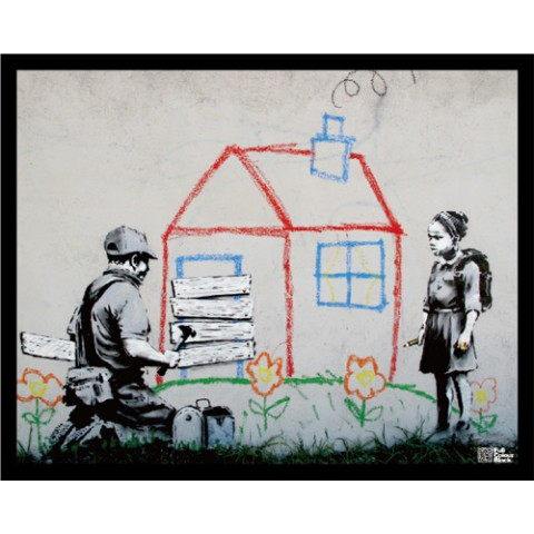 【Banksy・バンクシー】 Mini Poster Frame Set BKM001
