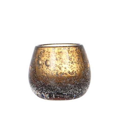 【DALTON 】BOCCEA CANDLE HOLDER AMBER