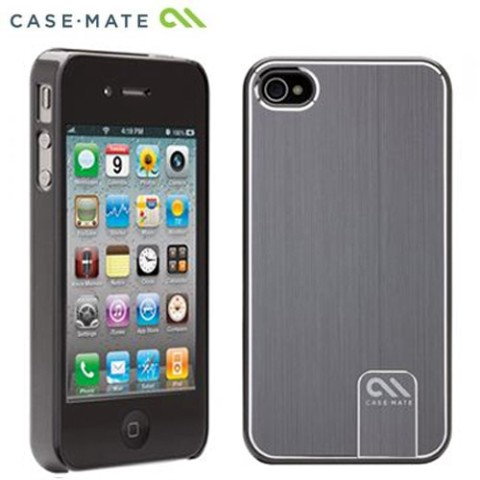 Case Mate iPhone 4S / 4用CASE Barely There Brushed Aluminum Silver