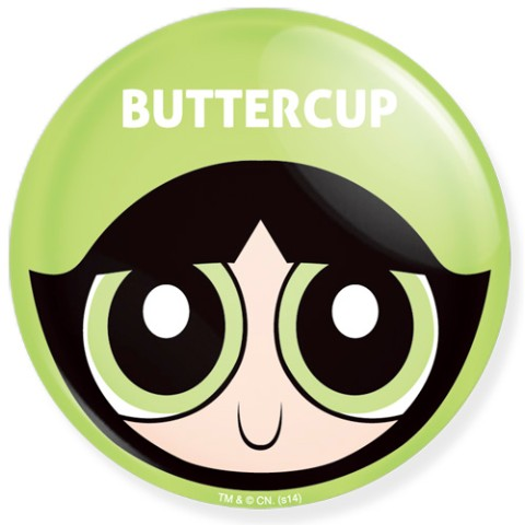 THE POWERPUFF GIRLS CAN BADGES65mm /Buttercup
