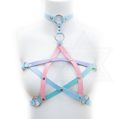 【Devilish】Pastel pentagram harness(S size)