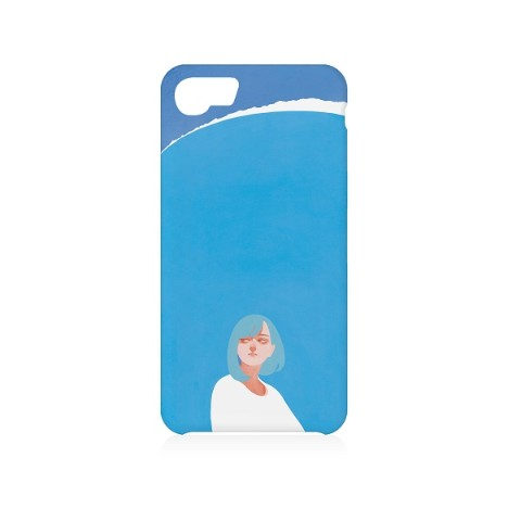 【aka】iPhone Case( iPhone 6/6s/7/8兼用)『ブルー・マンデー』