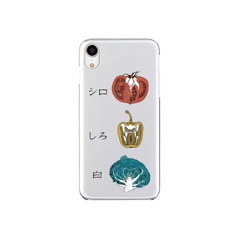 【sakiyama】Smartphone case with white vegetables (iPhoneXR)