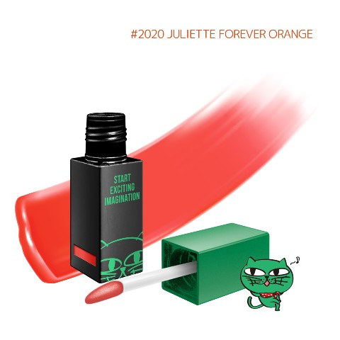 【OKCAT】 Lip capture tint color オレンジ