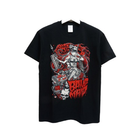 BAND-MAID Tシャツ KagaMI Design A Red / Gray XL