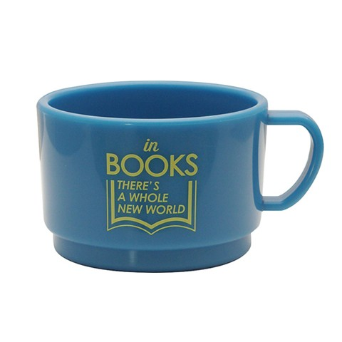 BOOK LOVERS スタッキングマグ BLUE