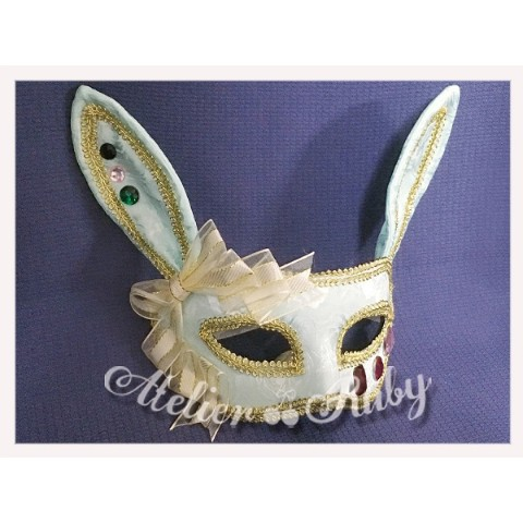 【Atelier Ruby】Mask Headdress-Rabbit/Mint