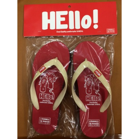 【BURNING THE REGISTER】 HELLO BEACH SANDALS (レッド) L 約26.5cm