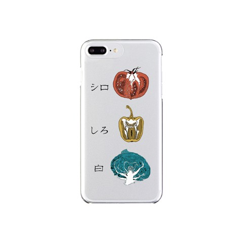【sakiyama】Smartphone case with white vegetables (iPhone8Plus/7Plus/6Plus)