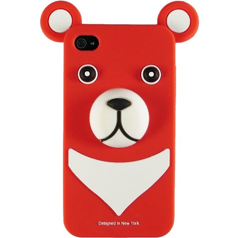 おとぼけクマさんのiPhone4 Case iburg 3D Bear Red