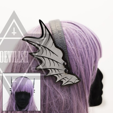 【Devilish】Black dragon Hairband