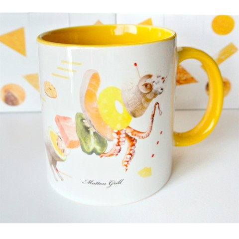 【Pola】マグカップ「JUICY ANIMALS」Yellow