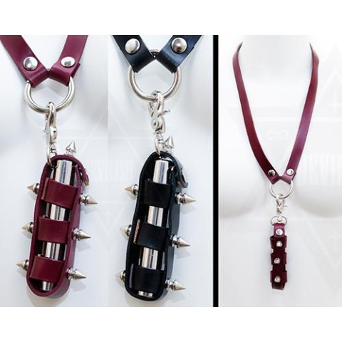 【Devilish】lipstick holder harness(WINE RED)