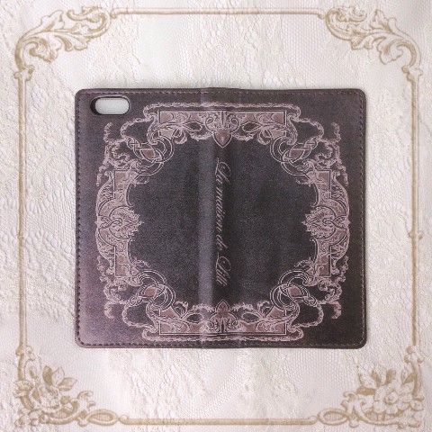 【La maison de Lilli】Antique Book iPhone case 《Black》 iPhone6plus