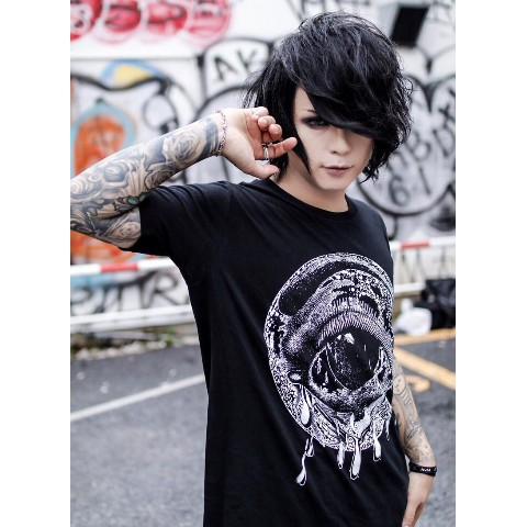 【acOlaSia】Mo cry oN tee(ブラック/XXXLサイズ)
