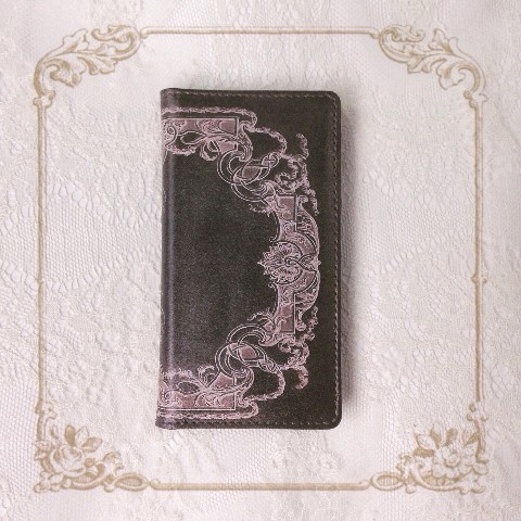【La maison de Lilli】Antique Book iPhone case 《Black》 iPhoneSE/5s/5