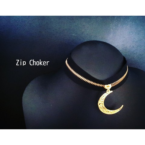 【KARMA of PASSION】Zip Choker Moon ジップチョーカームーン