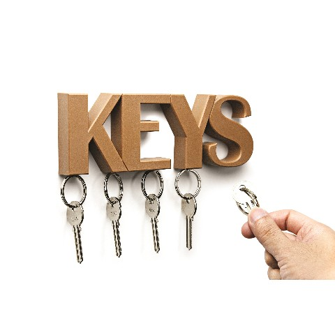 QUALY KEYSKEYHOLDER BROWN