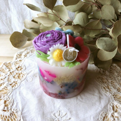 【10mei candle works】botanical(ジャスミン)