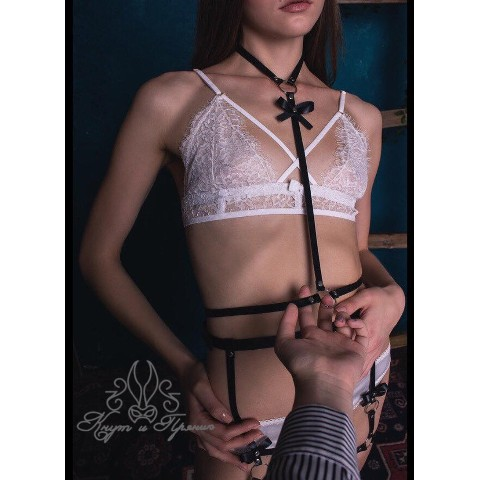 【Whip And Cake】harness with a bow【M】
