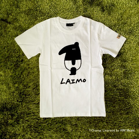【LAIMO】【S】プリントTシャツ ホワイト